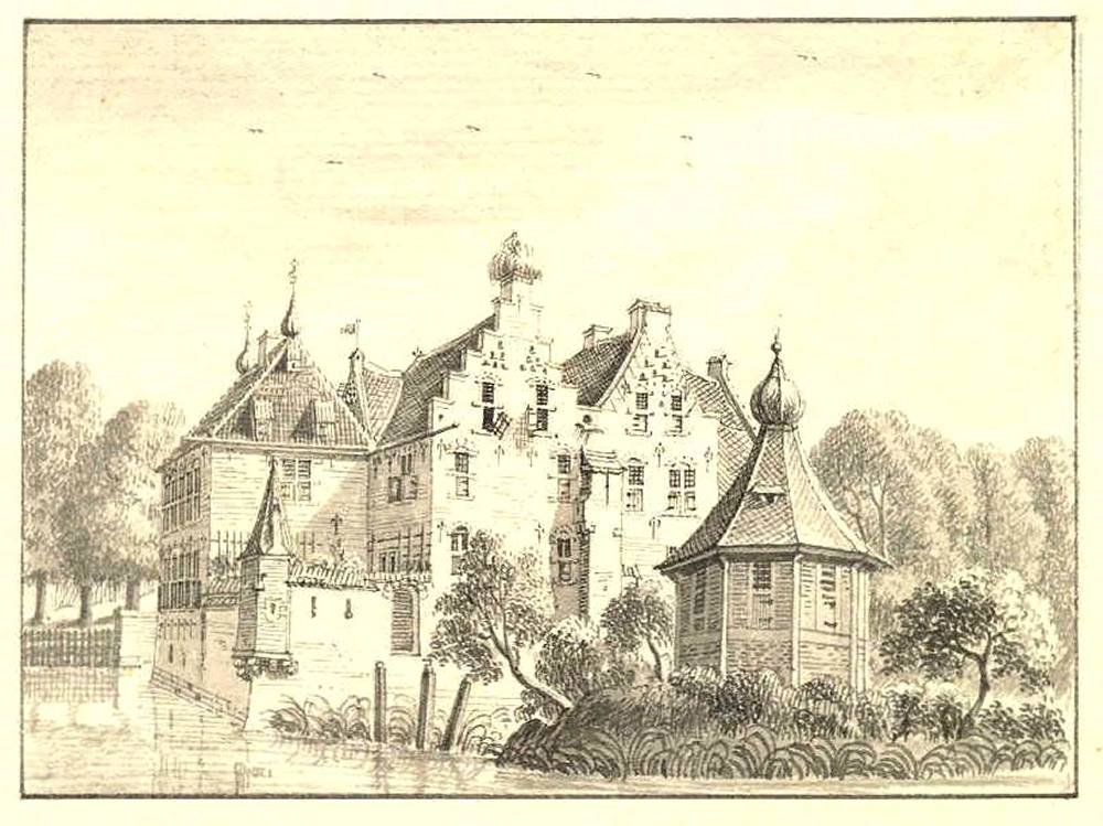 De Mussenberg in Nijmegen. Tekening Jan de Beijer, 1744